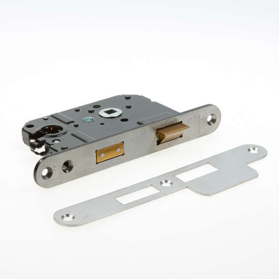 Afbeelding van Nemef Veiligheids Cilinder dag- en nachtslot deurslot PC55mm type 4119/27-50 DIN links