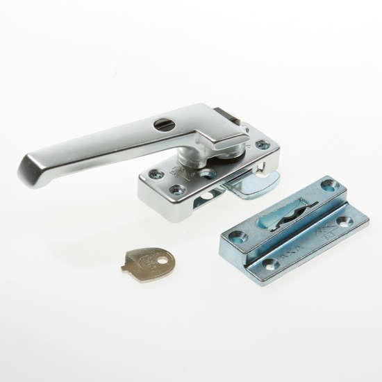 Afbeelding van Axa Raamsluiting met nok drukknop afsluitbaar links opbouw F1 3320-61-91/6